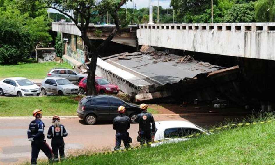 O alerta dado pelo viaduto do Eixão Sul