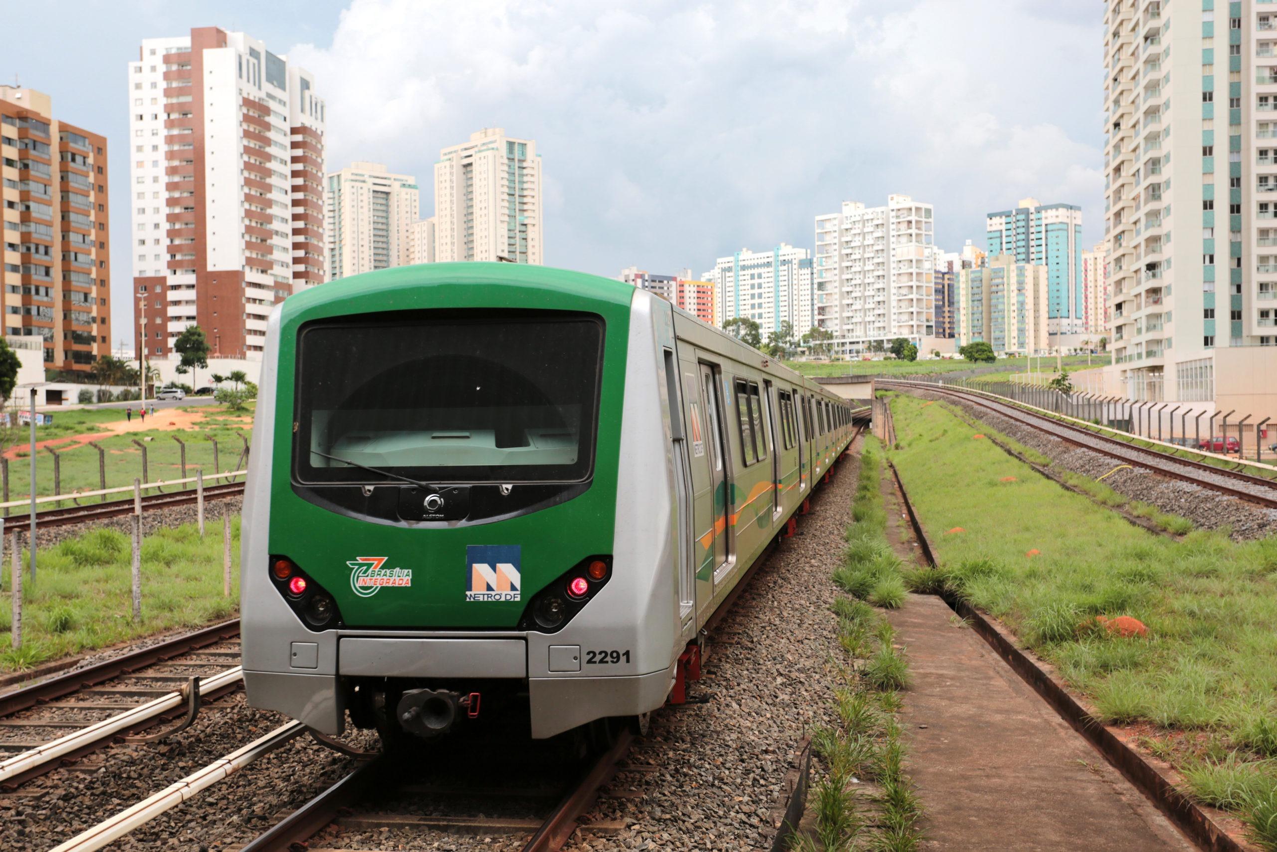 Metrô-DF fará ações de manutenção nos trilhos entre as estações Águas Claras e Terminal Samambaia