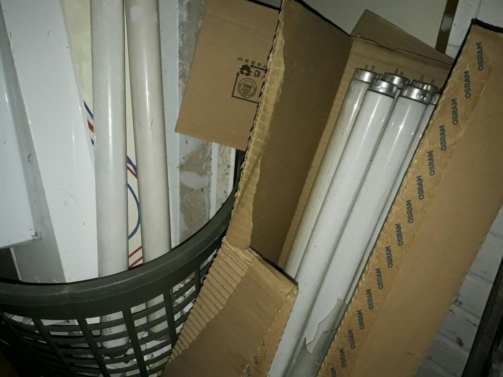 Lâmpadas usadas ficam amontoadas nas escolas do DF
