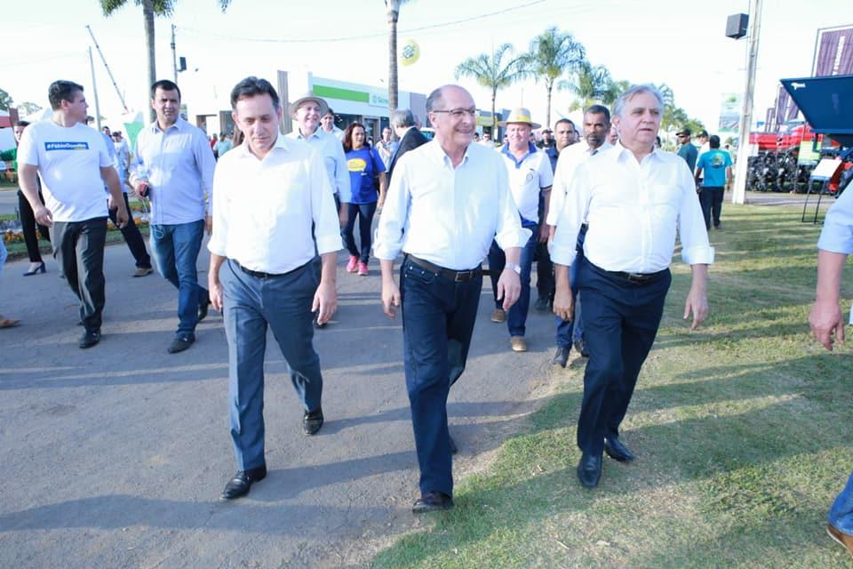 Alckmin visitou a AgroBrasília 2018 junto com Izalci Lucas