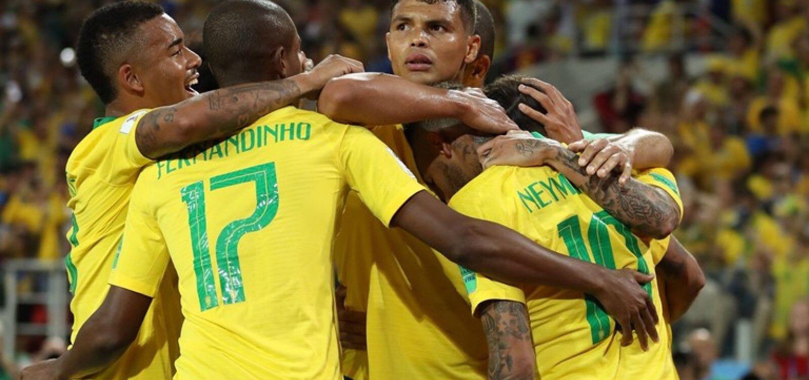 Brasil vence Sérvia por 2 a 0 e avança para as oitavas como 1º do grupo