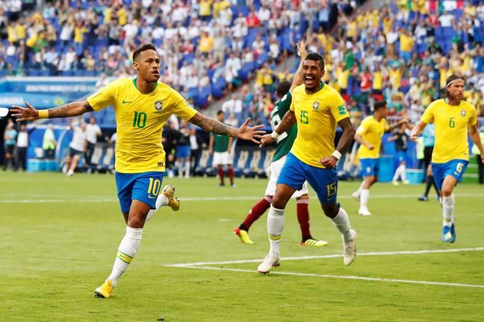 Brasil vence o México por 2 a 0 e enfrenta a Bélgica na próxima sexta (06), às 15h