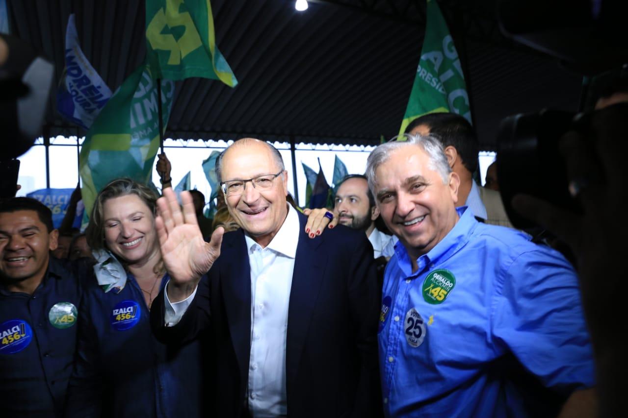 Alckmin foi recebido por uma multidão na Cidade Estrutural em Brasília