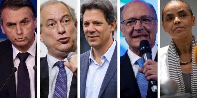 Ibope para presidente, votos válidos: Bolsonaro, 41%; Haddad, 25%; Ciro, 13%; Alckmin, 8%