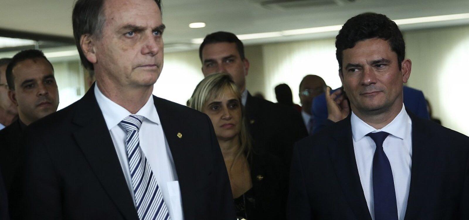 Moro irá ao Fórum Mundial com Bolsonaro para apresentar um Brasil que combate à corrupção