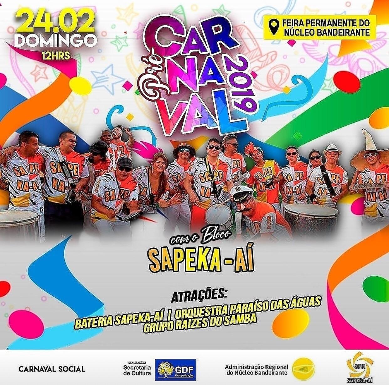 Bloco Sapeka-Aí realiza seu tradicional Pré-Carnaval da Família no Núcleo Bandeirante