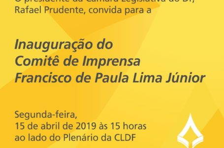 Câmara Legislativa inaugura sala do Comitê de Imprensa com nome do Professor Chico, fundador da ABBP