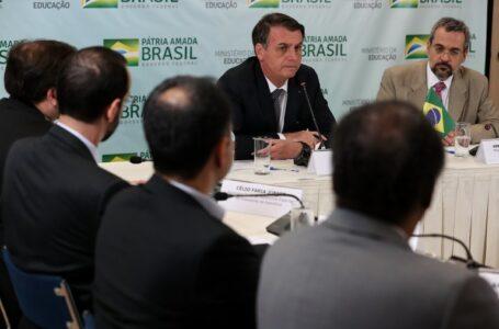 Bolsonaro visita Ministério da Educação