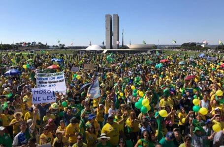 Multidão vai às ruas no DF e em todos os estados brasileiros em apoio ao presidente Bolsonaro