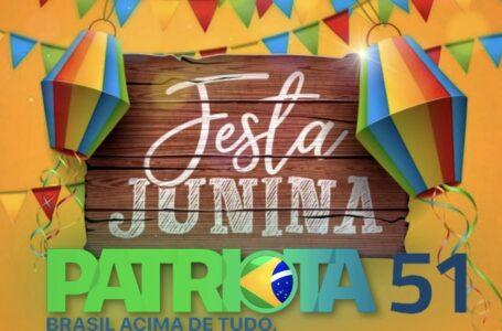 Adalberto Monteiro realiza a festa junina do Patriota