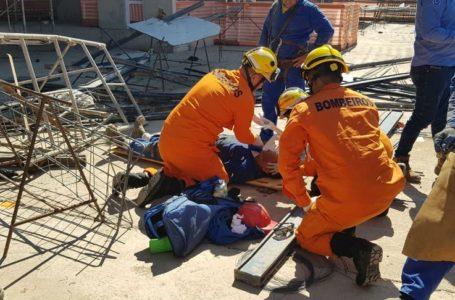 NOROESTE | Estrutura despenca de prédio em construção e deixa dois funcionários feridos em Brasília