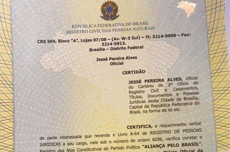 ALIANÇA | Novo partido de Bolsonaro é registrado em cartório