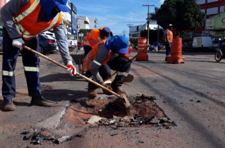 VALPARAÍSO DE GOIÁS   Operação Tapa Buraco continua a todo vapor na cidade