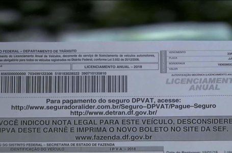 PELA INTERNET   GDF anuncia que boletos do IPVA 2020 não serão enviados pelos Correios