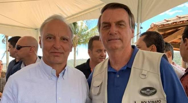 Foto de Bolsonaro e Belmonte