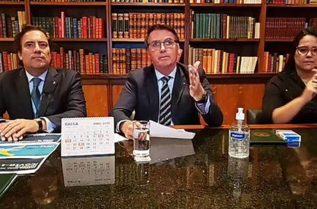 CENÁRIO ECONÔMICO   Bolsonaro espera retomada de atividades no país em até quatro meses