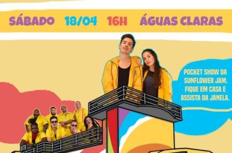 DIVERSÃO EM CASA   Trio da Sunflower Jam vai percorrer as ruas de Águas Claras a partir das 16h deste sábado