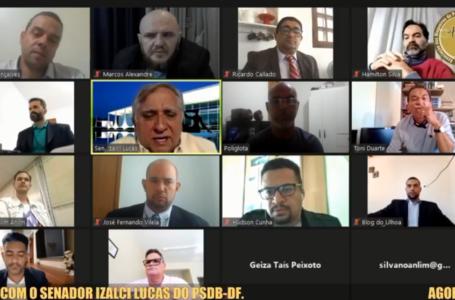SALA DE IMPRENSA | Izalci Lucas fala de sua atuação no Senado e seus planos para o futuro aos jornalistas e blogueiros da ABBP