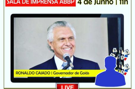 SALA DE IMPRENSA ABBP   Ronaldo Caiado é o entrevistado desta quinta (04), às 11h