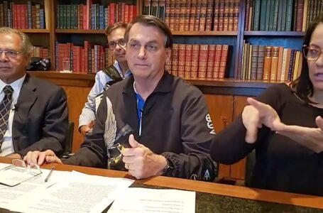 COM VALOR REDUZIDO | Ao lado de Paulo Guedes, Bolsonaro anuncia que governo pagará mais parcelas do auxílio