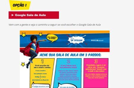 FIM DO ISOLAMENTO PEDAGÓGICO | GDF lança página Escola em Casa DF na segunda (22)