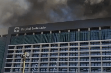 ASSISTA O VÍDEO | Incêndio no Hospital Santa Luzia fez pacientes serem retirados
