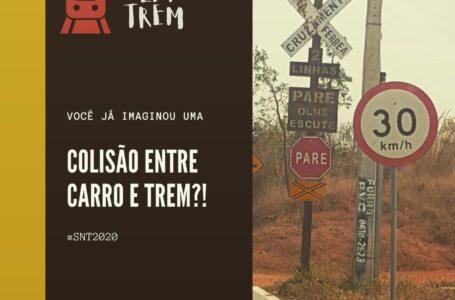 SIMULAÇÃO DE ACIDENTE   Detran-DF realiza ação educativa sobre a linha do trem no SIA