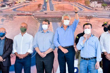 PARCERIA DE SUCESSO   Com apoio do governo Bolsonaro, Caiado entrega anel viário de Aparecida de Goiânia