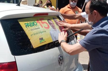 ADESIVAÇO NO CÉU AZUL | Moradores do maior bairro de Valparaíso vão as ruas declarar apoio à reeleição de Pábio Mossoró