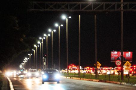 MAIS CLARA E SEGURA | Pista do Jóquei ganha iluminação de lâmpadas de LED aumentando a visibilidade