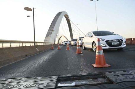 REPARO NAS JUNTAS | Detran-DF interdita Ponte JK neste fim de semana