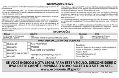 ATENÇÃO, CONTRIBUINTES | Boletos do IPVA começaram a ser enviados