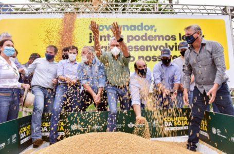 RECORDE DE PRODUÇÃO | Caiado participa de abertura oficial da colheita da soja em Goiás da safra 2020/2021