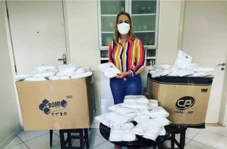 DE OLHO NO ENTORNO | Deputada Lêda Borges pode ser investigada por distribuir cestas básicas e máscaras em Valparaíso