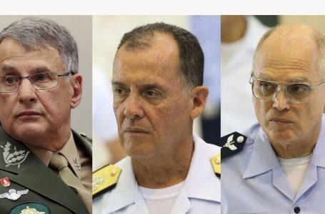 SEM DIZER O PORQUÊ | Comandantes do Exército, da Marinha e da Aeronáutica entregam os cargos