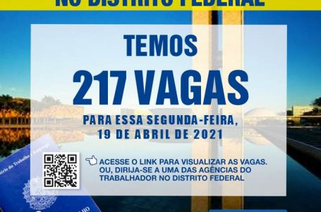 AGÊNCIA DO TRABALHADOR | Confira as 212 vagas de emprego para a segunda-feira (19)