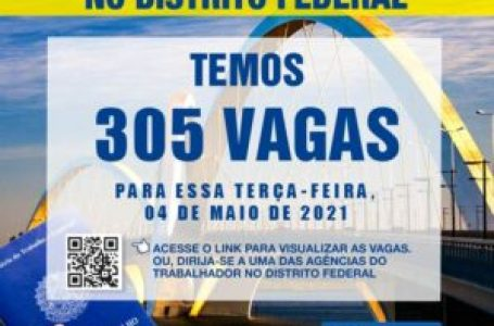 AGÊNCIAS DO TRABALHADOR | Confira as 305 oportunidades de emprego desta terça (4)