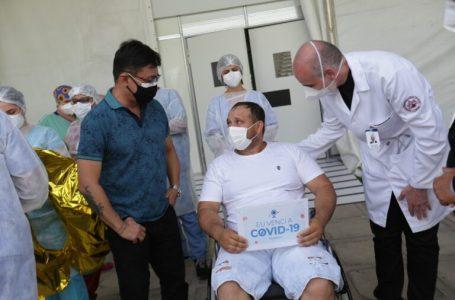 PRIMEIROS 100 RECUPERADOS | Hospitais de campanha chega ao 100º caso de alta de Covid-19