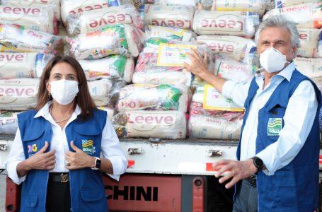 EM UM MÊS   Governo Caiado distribui mais de 120 mil cestas básicas