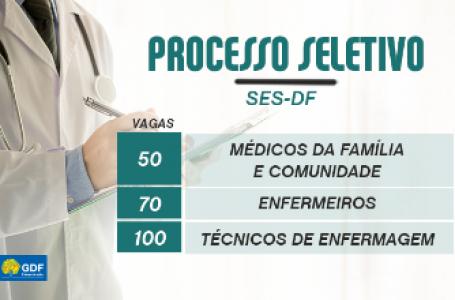 SELEÇÃO EMERGENCIAL | Sec. de Saúde do DF abriu inscrições para 220 vagas temporárias em diversas profissões