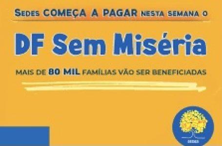 DF SEM MISÉRIA | GDF começa a pagar o benefício para 84 mil famílias