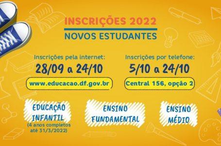 NOVOS ESTUDANTES | Secretaria de Educação abre inscrições para matrículas pelo site ou pelo 156 para 2022
