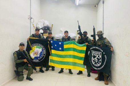 OPERAÇÃO CONJUNTA   Forças de segurança de Goiás e do Mato Grosso do Sul apreendem 2,5 toneladas de maconha