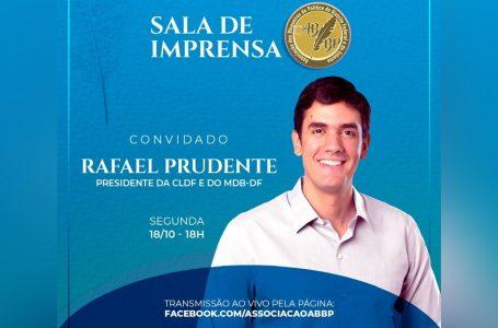 SALA DE IMPRENSA ABBP   Rafael Prudente é o entrevistado desta segunda (18)